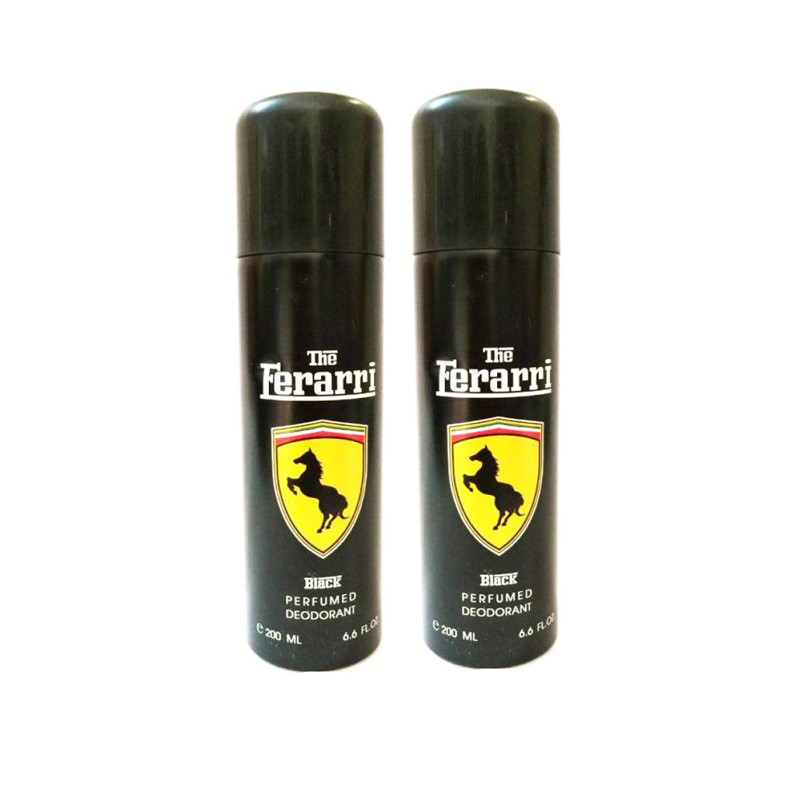 Ferrari Black Deodorant-200ml-Pack Of 2