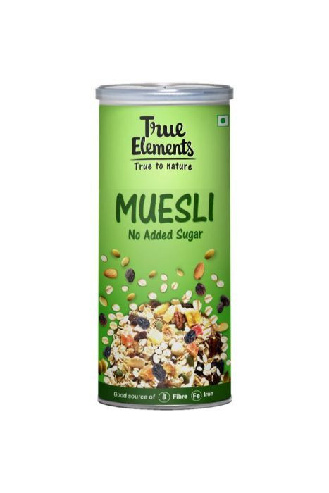 True Elements No Added Sugar Muesli 400gm