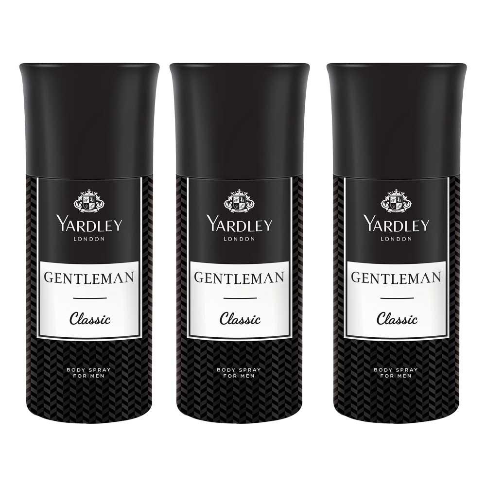 Yardley Gentleman Classic (Pack Of 3) Deodorants For Men