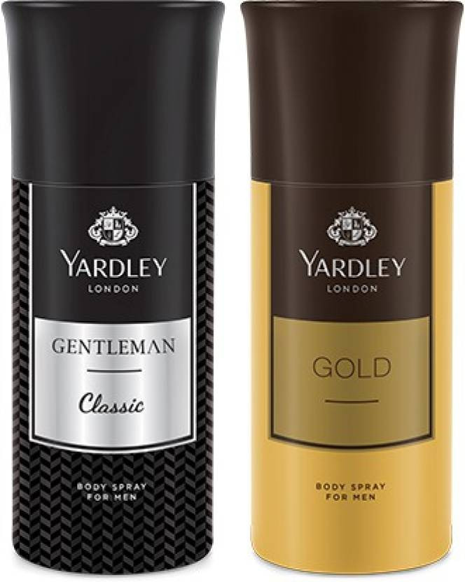 Yardley Gentleman And Gold Deo for Men  (Pack Of 2) 150ml Each