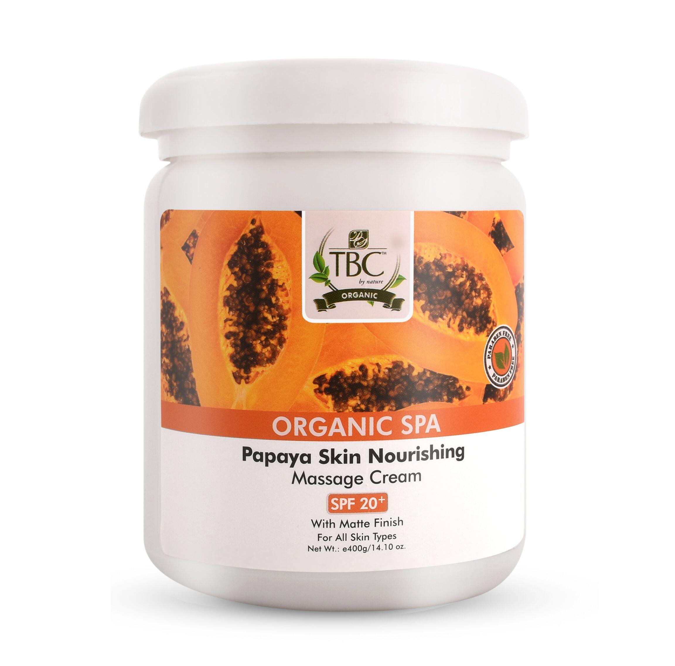 TBC Pro Organic Papaya Massage Cream 400gm