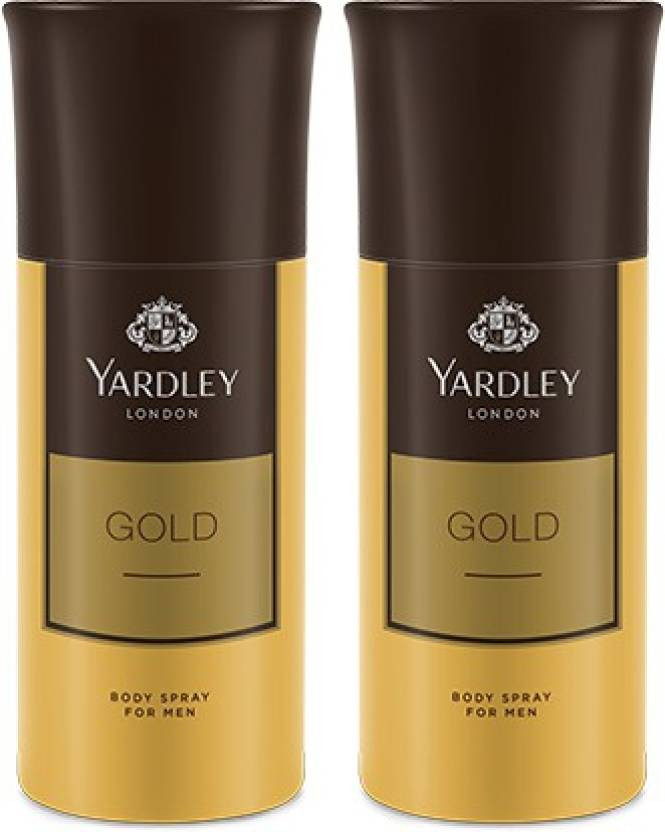Yardley Gold Deodorant Spray for Men (150 ml, Pack of 2)