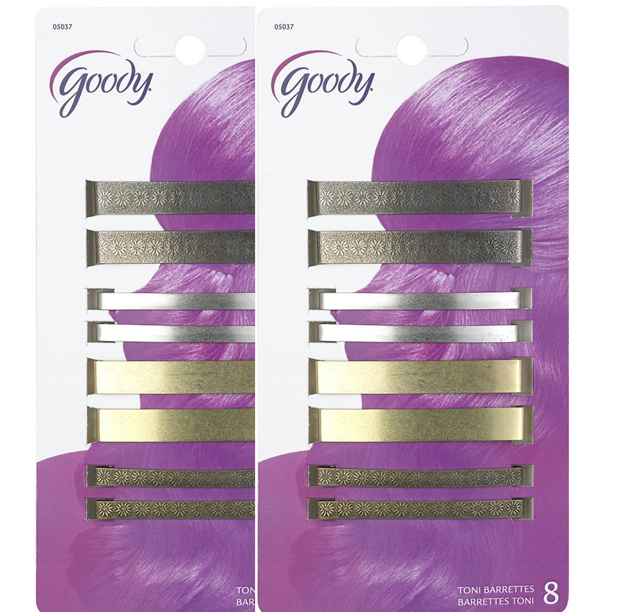 Goody Classics Metal Barettes, 2 3/8 Inches, - 2 Packs Of 8 Count = 16 Count