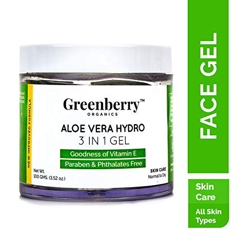 Greenberry Organics Aloe Vera Hydro 3 in 1 Gel