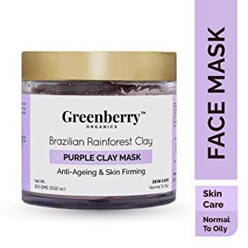 Greenberry Organics Brazilian Rainforest Purple Clay Mask