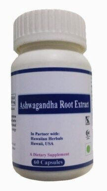 Hawaiian herbal ashwagandha root extract capsule