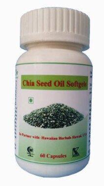 Hawaiian herbal chia seed oil softgels