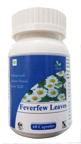 Hawaiian herbal feverfew leaves capsule