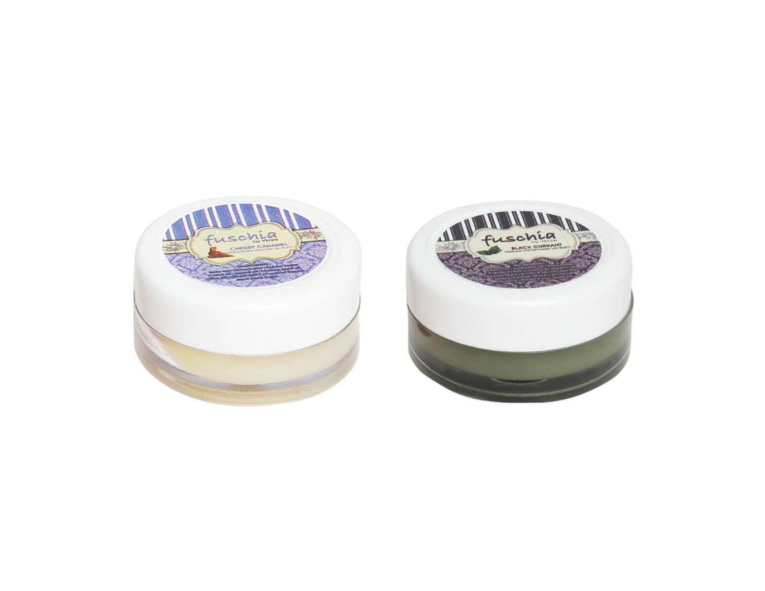 Fuschia – Caramel & Black Currant Lip Balm Combo 16gm