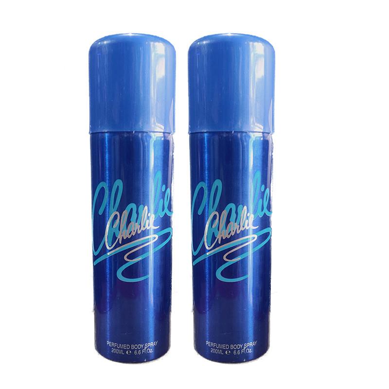 Charlie Blue Deodorant 200Ml (Pack Of 2)