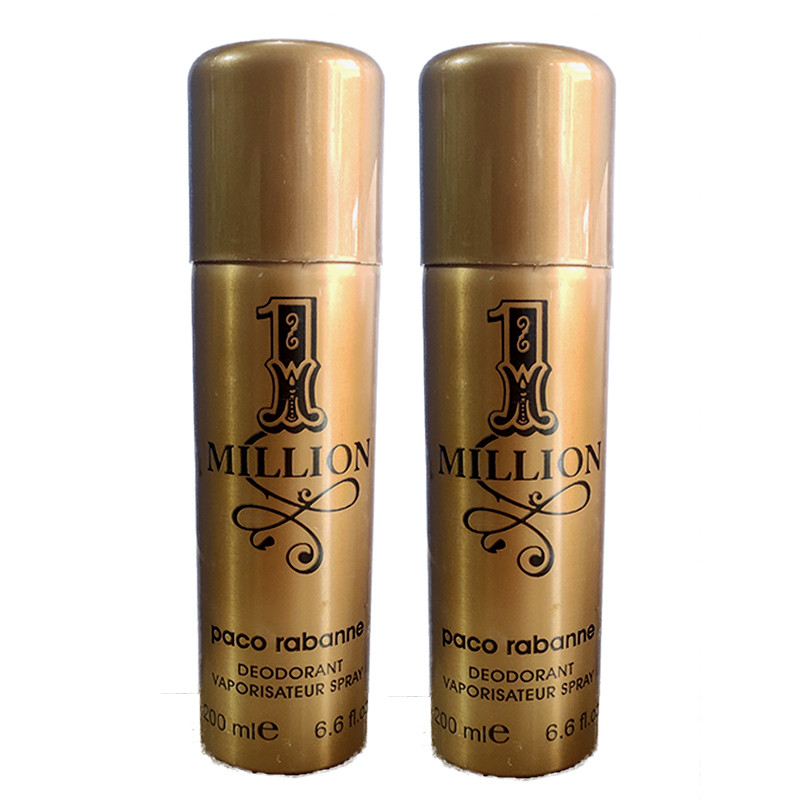 Paco Rabanne One Million Deodorant 200Ml (Pack Of 2)