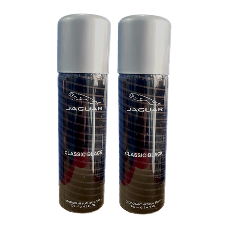 Jaguar Classic Black Deodorant 200Ml (Pack Of 2)