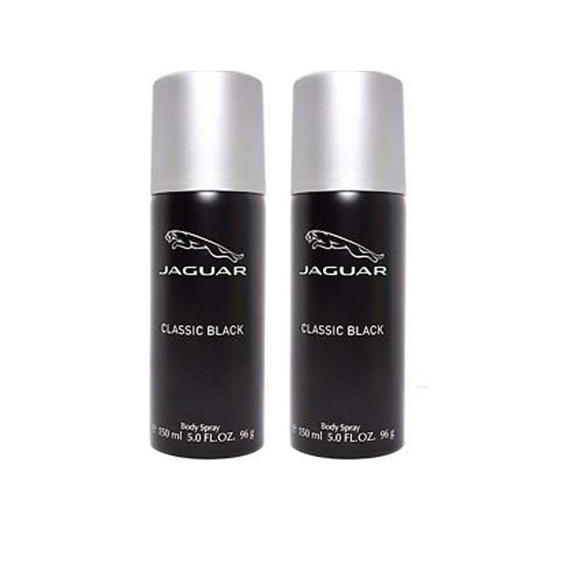 Jaguar Classic Black Deodorant Spray - For Men  (150 ml, Pack of 2)