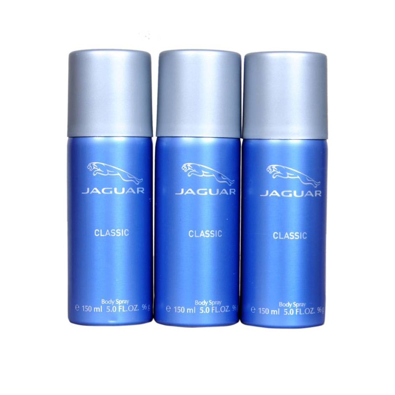 Jaguar classic blue Deodorant Spray - For Men & Women  (150 ml, Pack of 3)