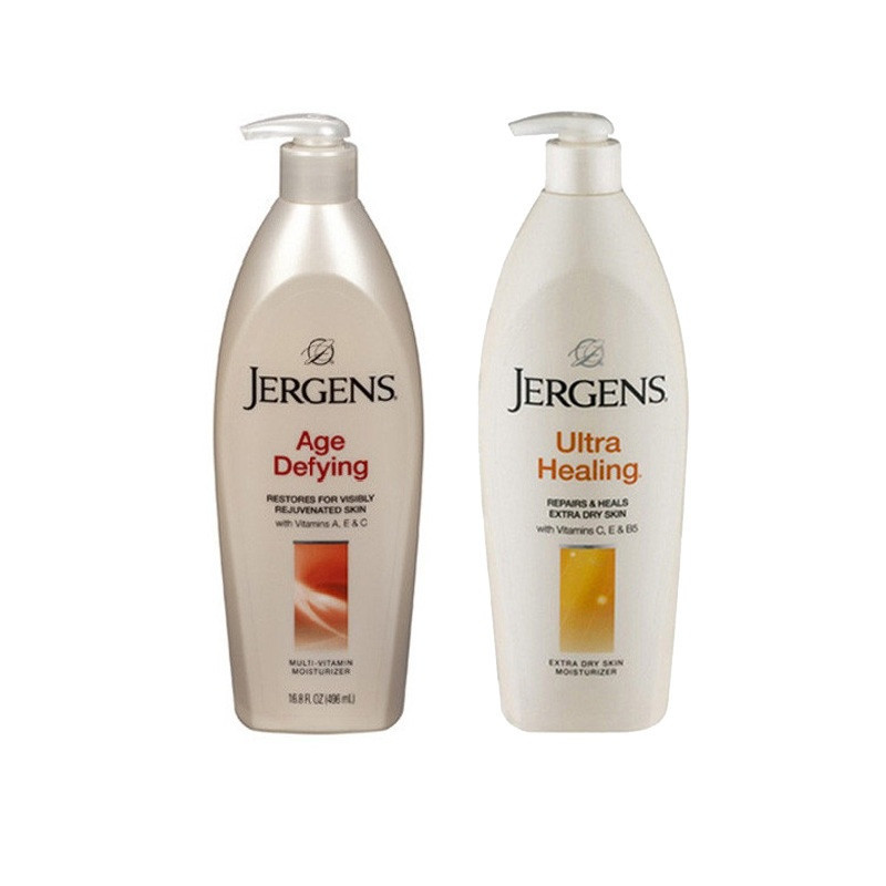 Jergens Imported Age Defying and Ultra healing Moisturizer Body Lotion (496Ml-Combo)