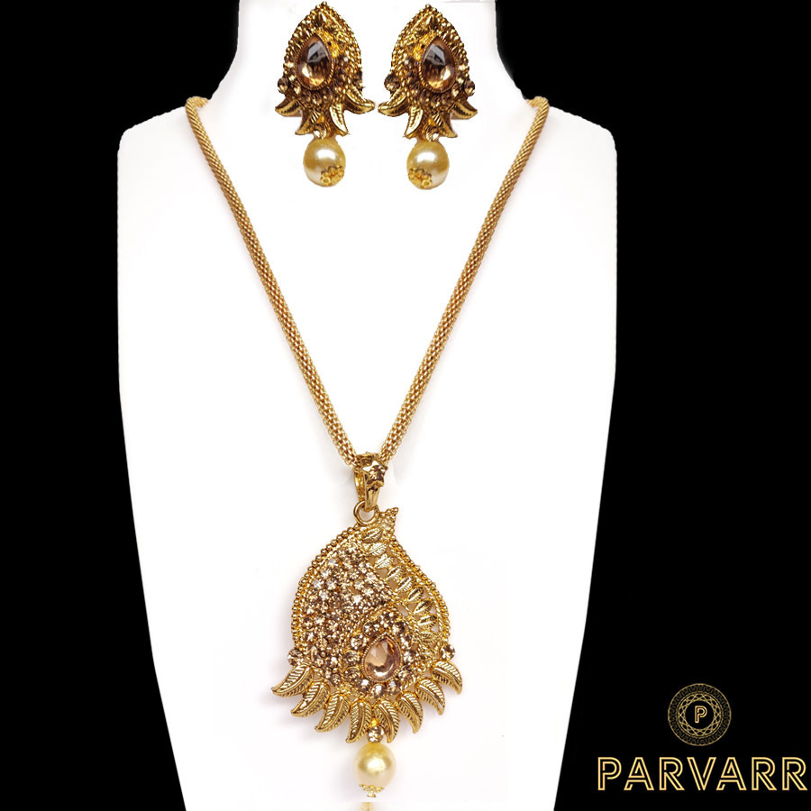 Parvarr Gold Plated Necklace Set for Women