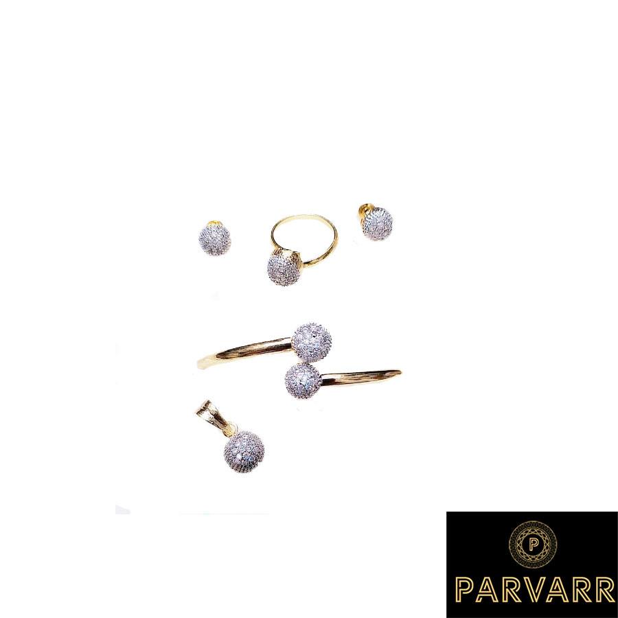 Parvarr American Diamond Jewellery Set for Women