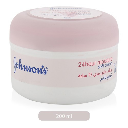 Johnson's 24 H Moisture Soft Cream, 200 ml