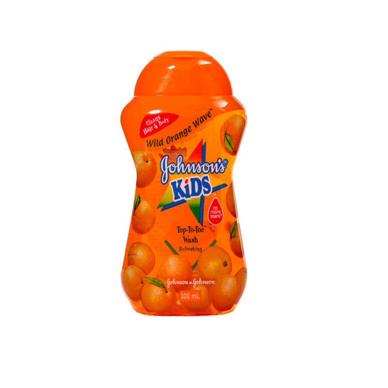 Johnson's Kids Imported Top To Toe Wash 300ml - Wild Orange Wave