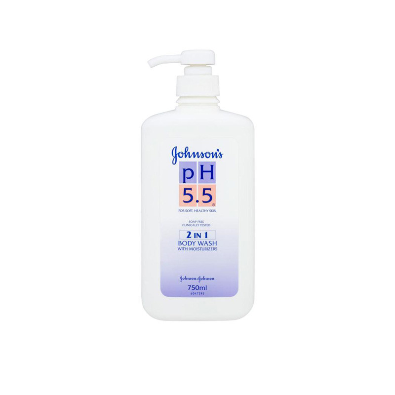 JOHNSON'S IMPORTED PH 5.5 2 IN 1 BODYWASH WITH MOISTURIZERS - 750ML