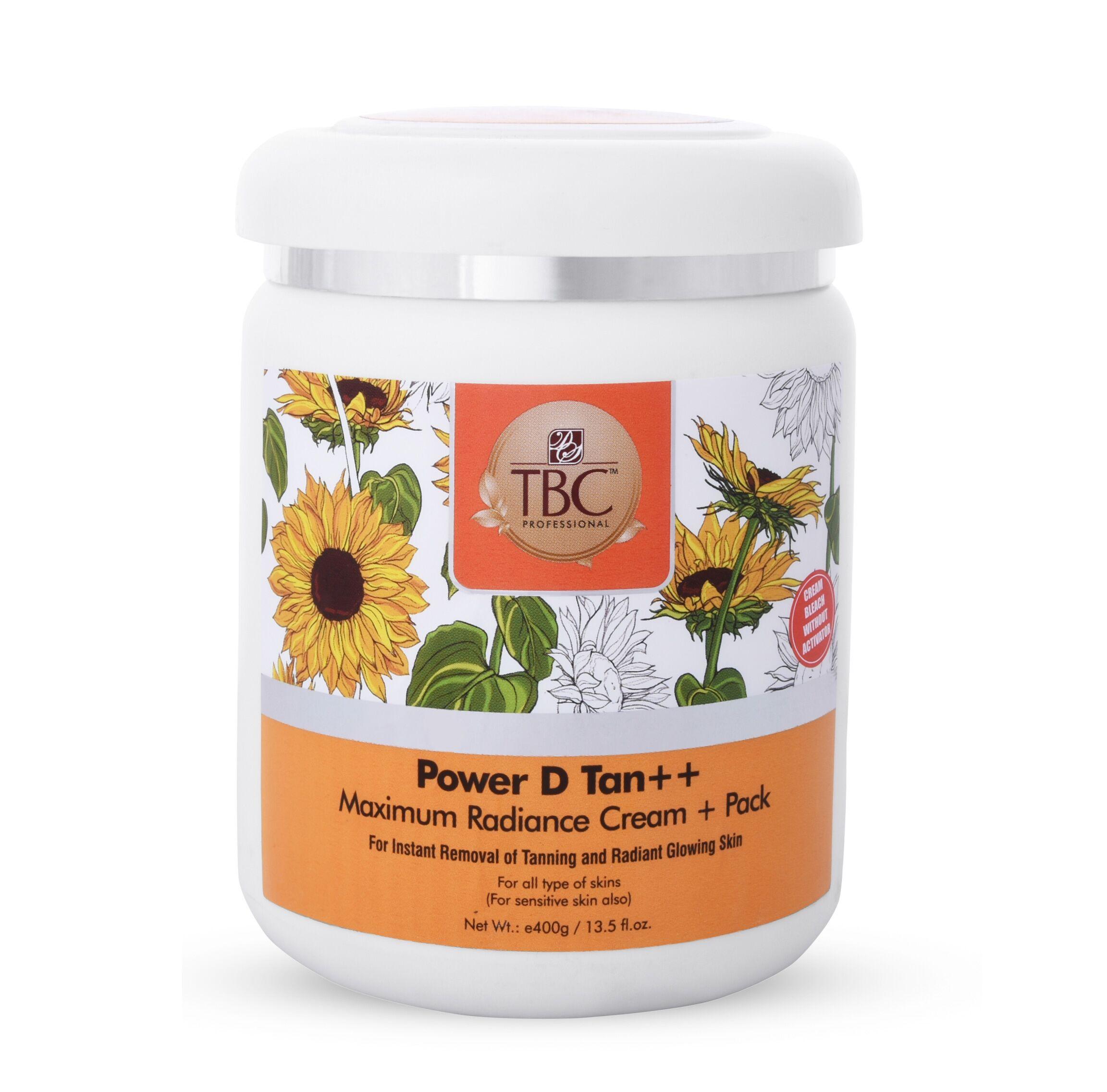 TBC Pro D Tan Face Cream + Pack 400gm