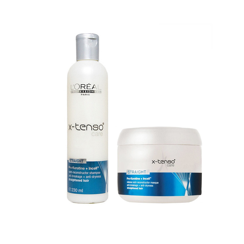 L'Oreal Paris Professionnel X Tenso Care Shampoo 230ML& Mask 196G Combo