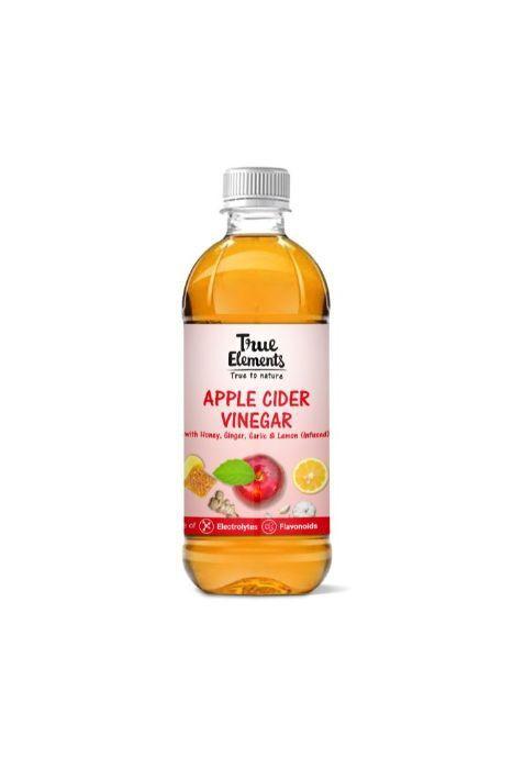 True Elements Apple Cider Vinegar With Honey Ginger Garlic And Lemon (Infused) 500ml