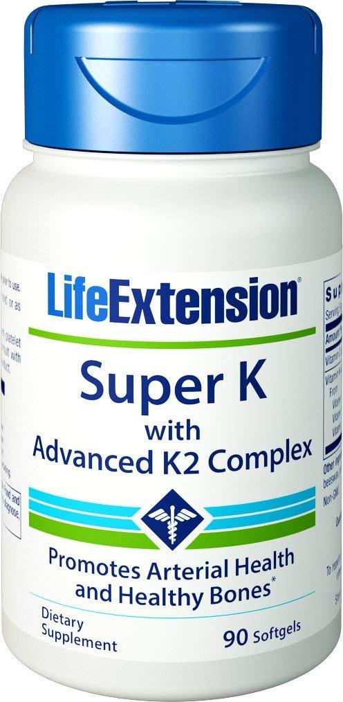 Life Extension Super K with Advanced K2 Complex, 90 Softgels