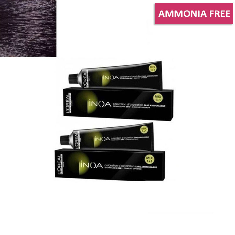 L'Oreal Professionnel Inoa Hair Colour No 1 Black, 2 Tube- 60Gm