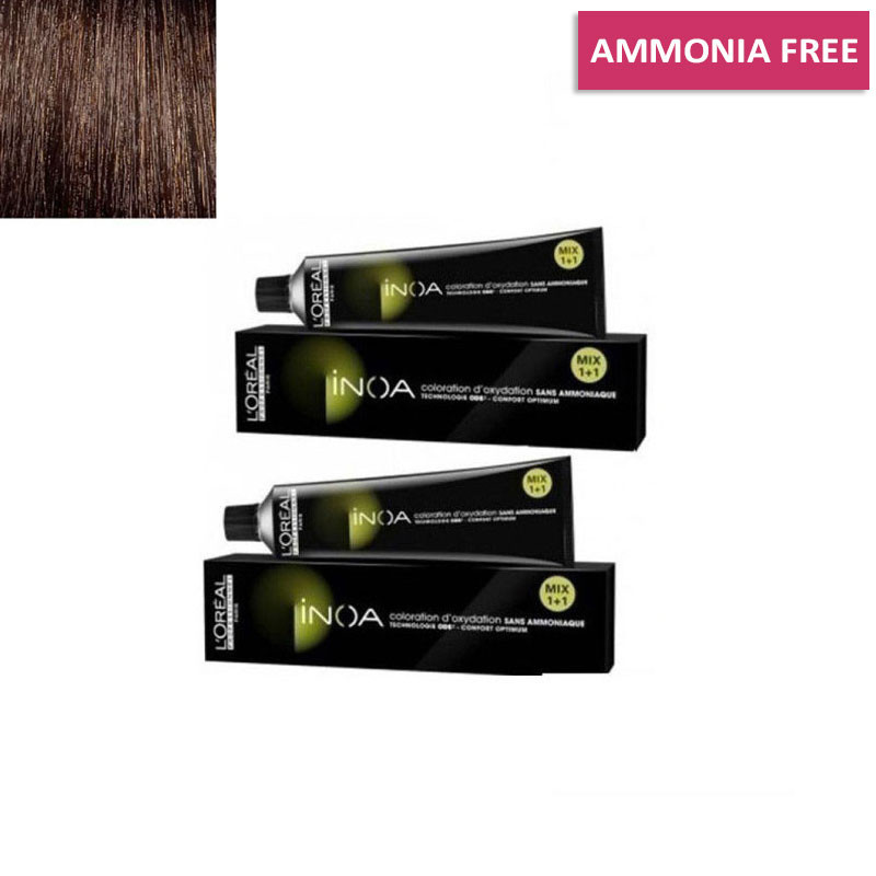 L'Oreal Professionnel Inoa Hair Colour No 4 Brown, 2 Tube-60 G