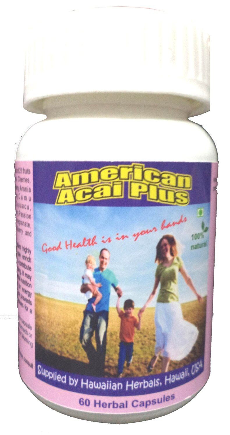Hawaiian herbal american acai plus capsule
