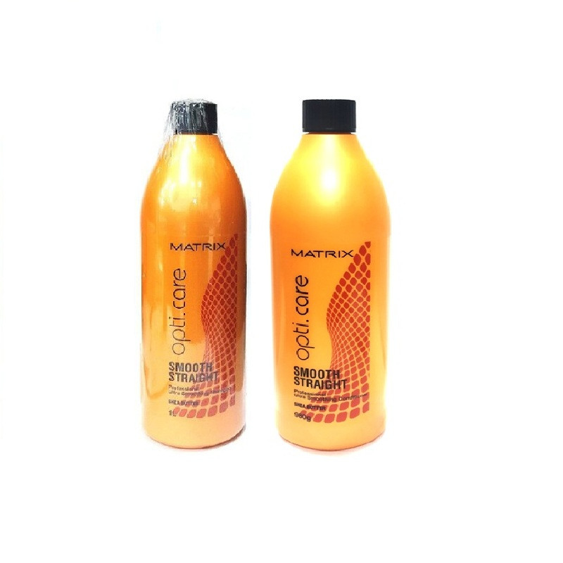 Matrix Opticare Smooth Straight Shampoo-1Ltr & Conditioner-980g Combo