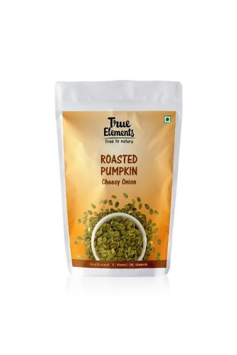 True Elements Roasted Pumpkin Seeds Cheesy Onion 125gm