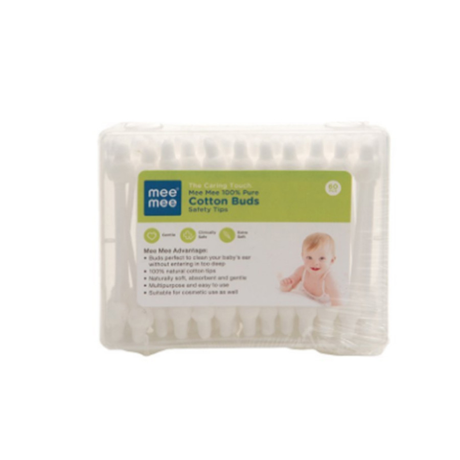 Mee Mee 100 % Pure Cotton Buds (60pcs, White)