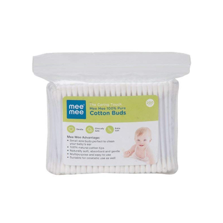 Mee Mee 100 % Pure Cotton Buds White - 200 Pieces