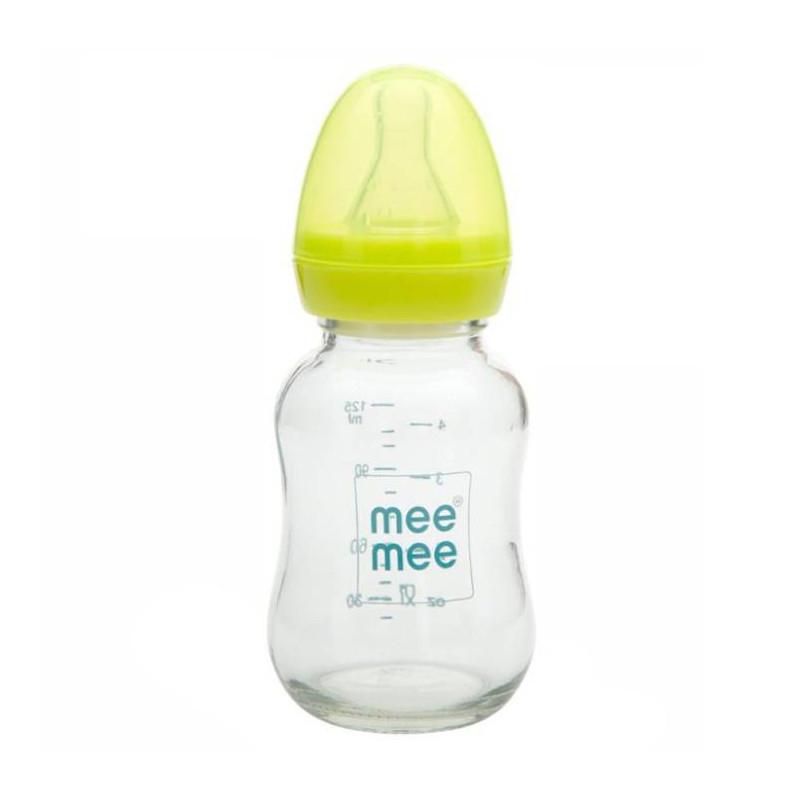 Mee Mee 120ml Premium Glass Feeding Bottle (Green)