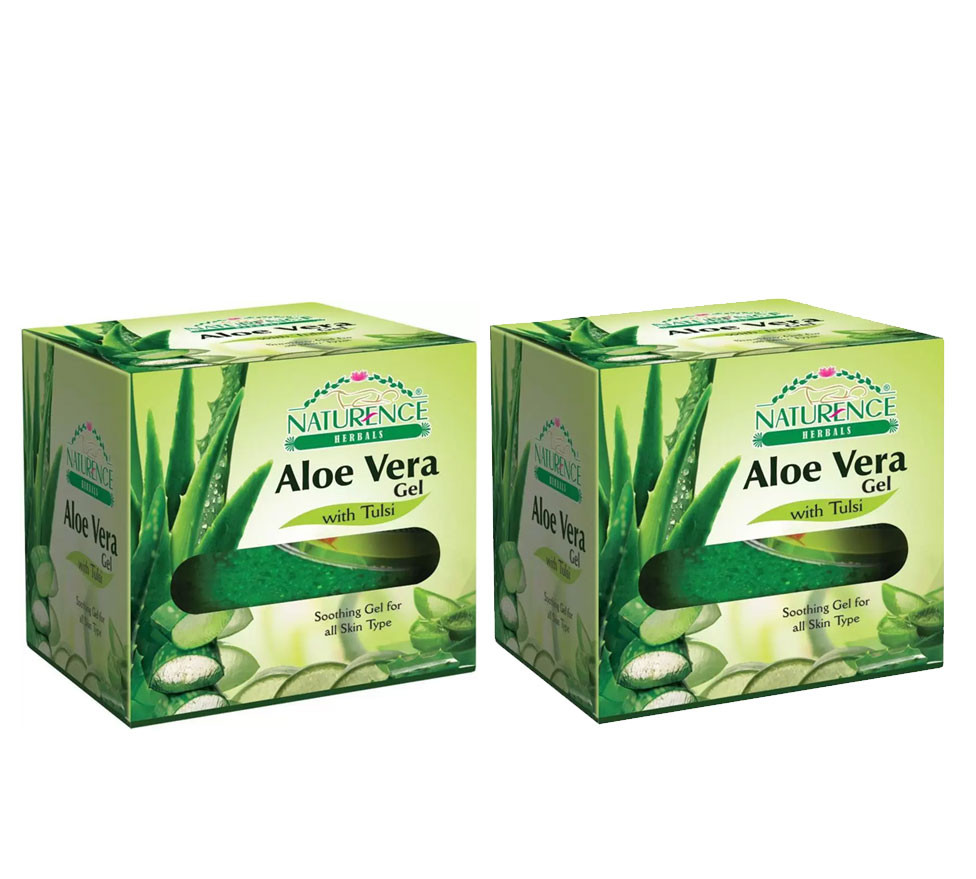 Naturence Herbal Aloe Vera Fairness Gel 100g (Pack OF 2)