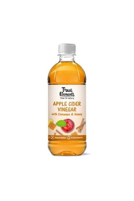 True Elements Apple Cider Vinegar With Cinnamon And Honey 500ml