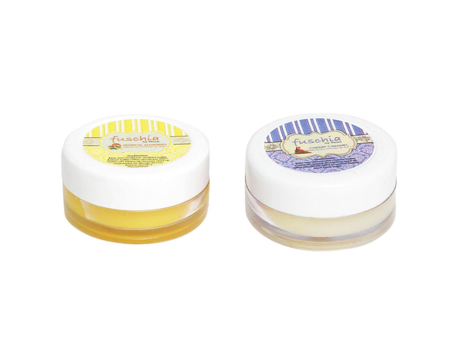 Fuschia – Caramel & Alphonso Lip Balm Combo 16gm