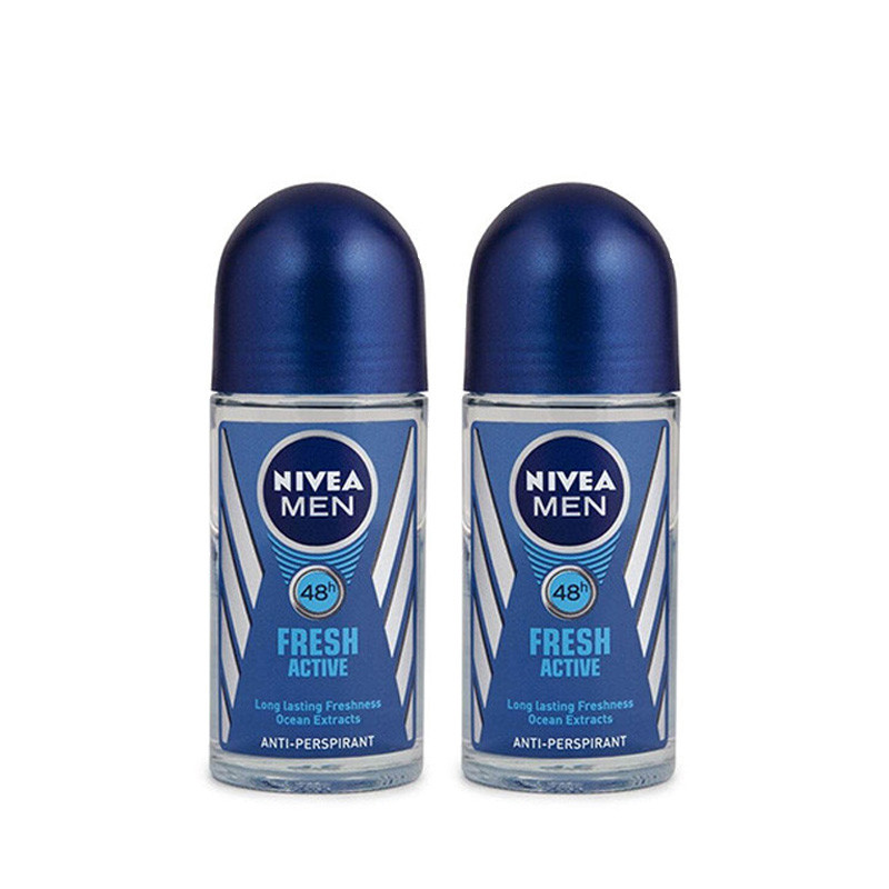 NIVEA FRESH ACTIVE ROLL ON, 50ML-Pack of 2