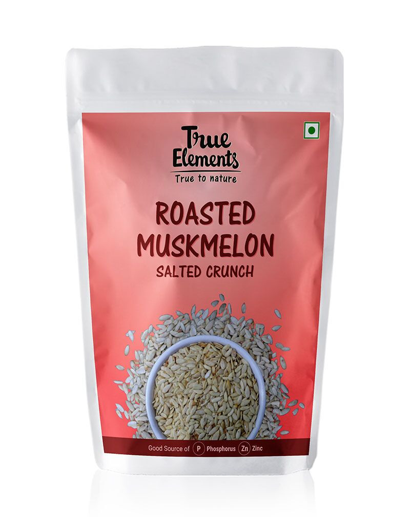 True Elements Roasted Muskmelon Seeds Salted Crunch 125gm