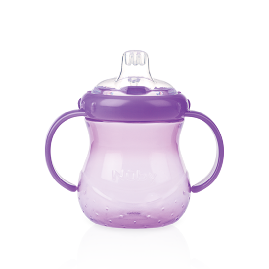 Nuby No Spill Grip N Sip Cup With Cover Purple - 300 ml