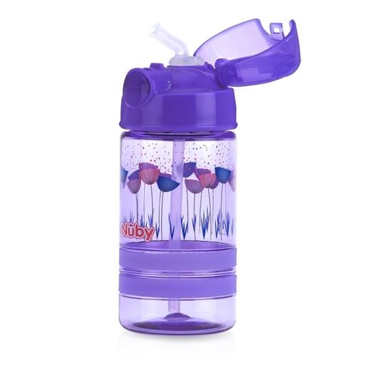 Nuby Thirsty Kids™ Flip-it™ ACTIVE 360ml- Purple