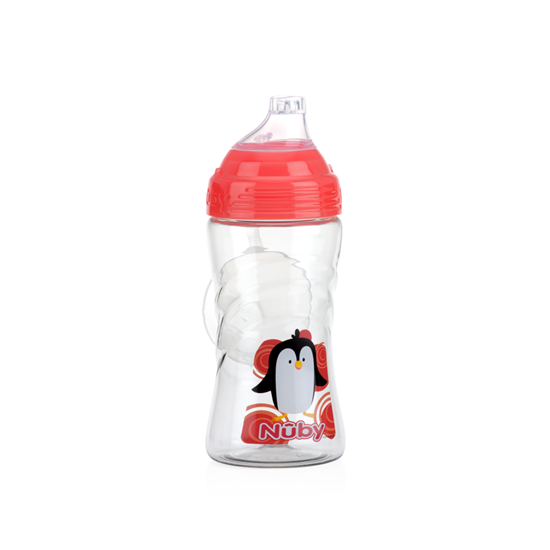 Nuby Thirsty Kids™ Sip It Sport 360ml-Red