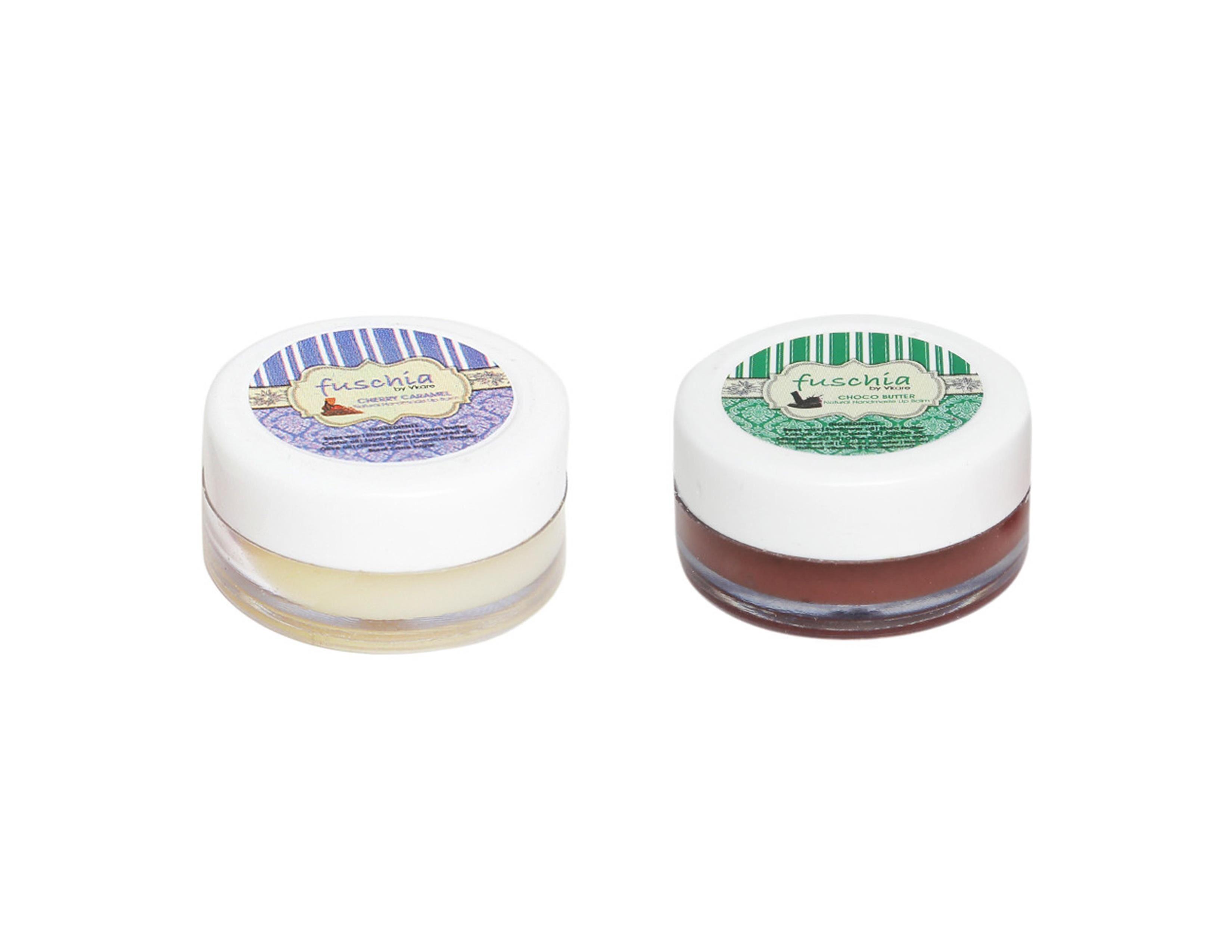 Fuschia – Caramel & Choco Butter Lip Balm Combo 16gm