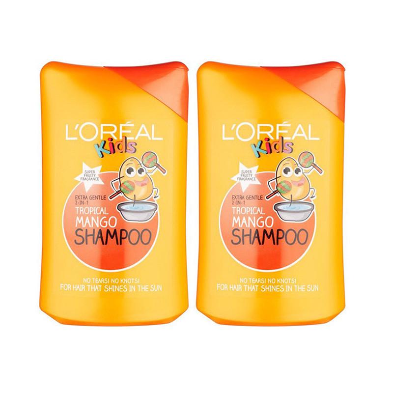 L'Oreal Kids Imported Tropical Mango Shampoo (250Ml-Combo)