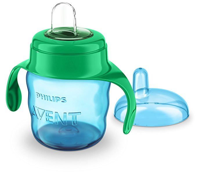 Philips Avent Classic Soft Spout Cup, 200ml (Green/Blue)