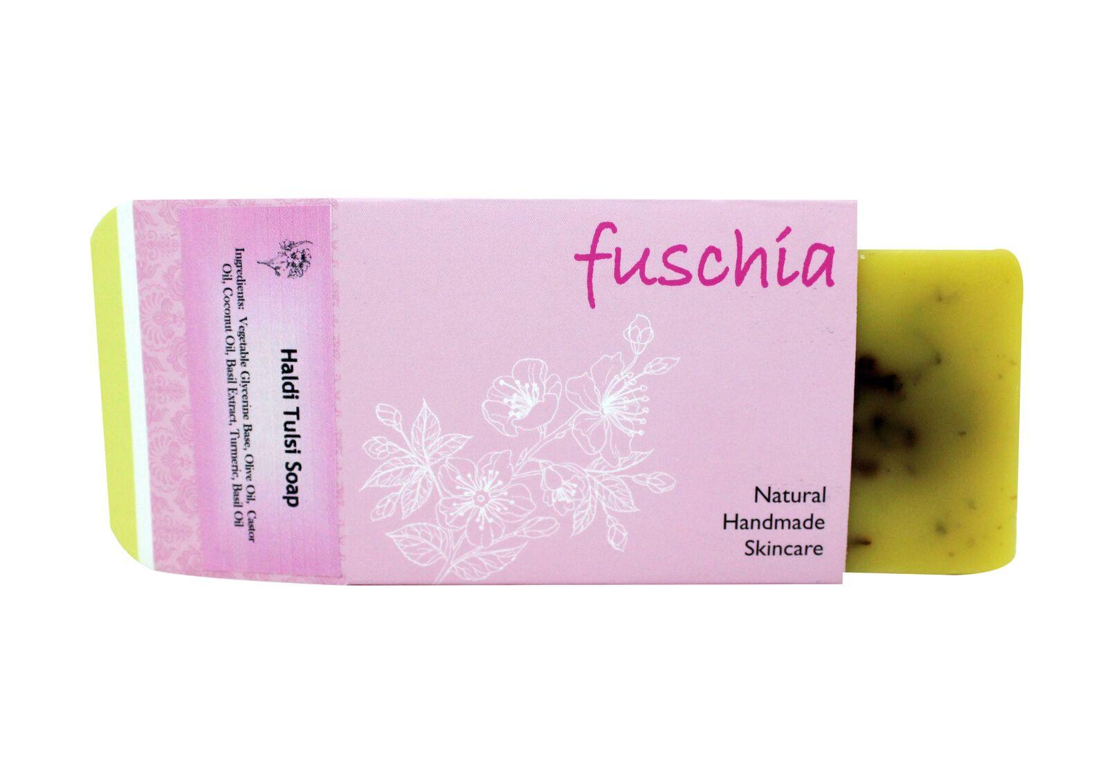Fuschia - Haldi Tulsi Natural Handmade Herbal Soap 100gm