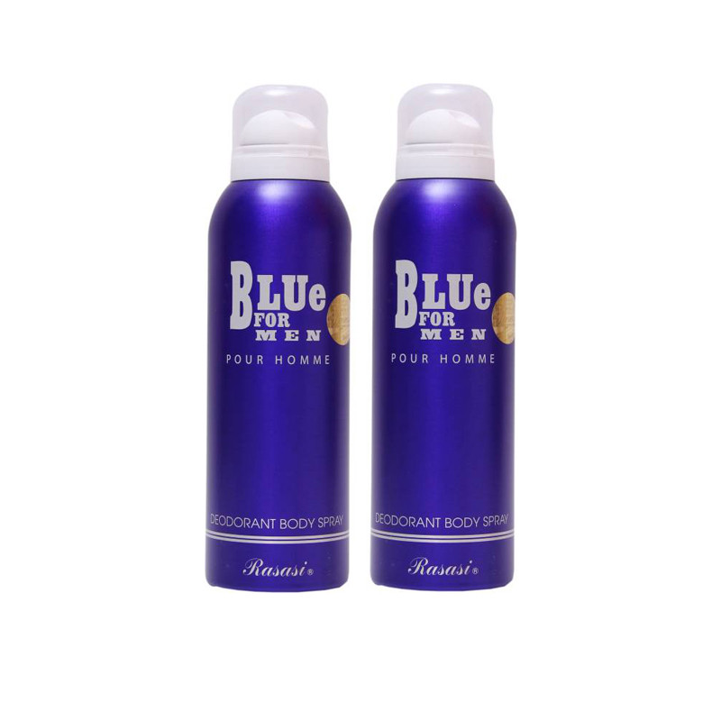 Rasasi 2 Blue For Men Deodorant Spray - For Men 400ML