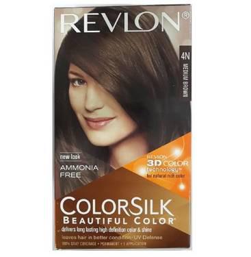 Revlon Colorsilk Hair Color With 3D Color Technology 4N Hair Color  (Medium Brown)